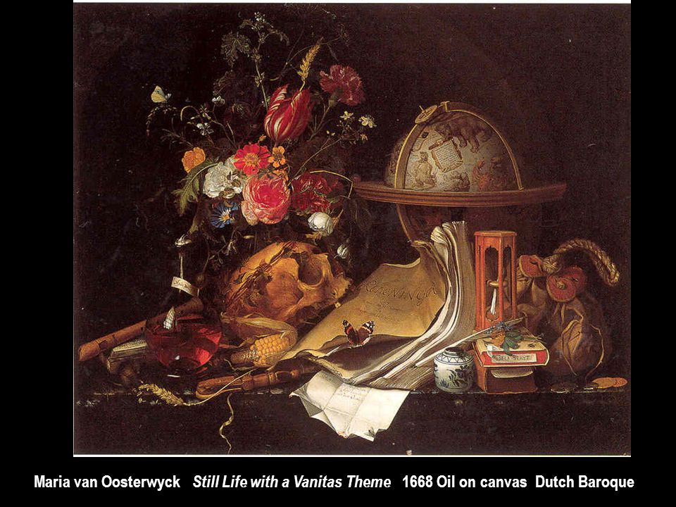 Maria van Oosterwyck Still Life with a Vanitas Theme 1668 Oil on canvas Dutch Baroque