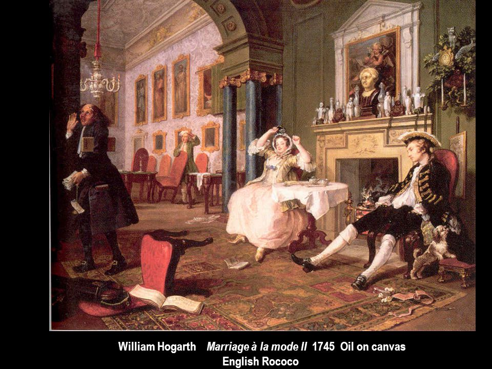 William Hogarth Marriage à la mode II 1745 Oil on canvas