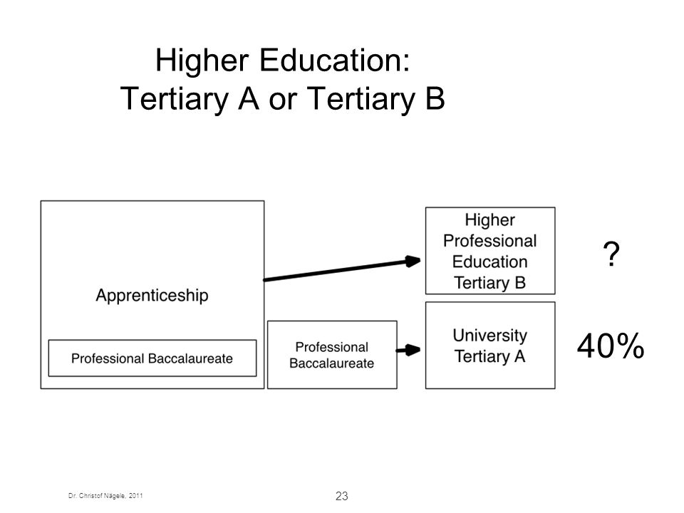 Higher Education: Tertiary A or Tertiary B