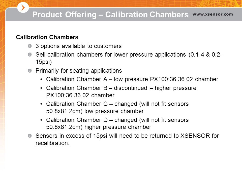 Product Offering – Calibration Chambers