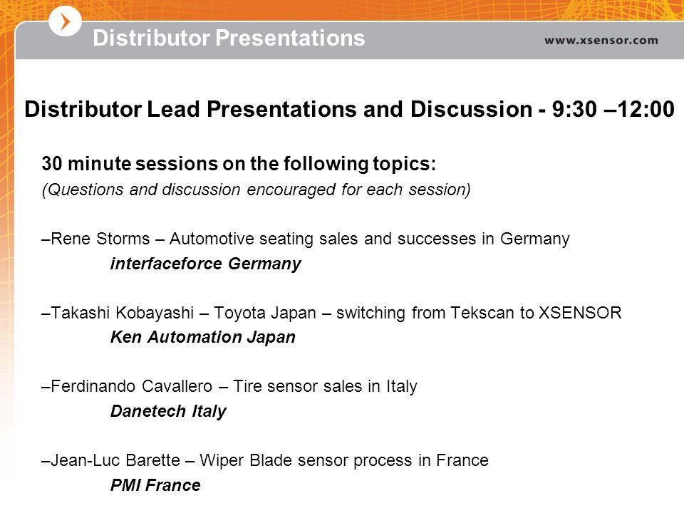 Distributor Presentations