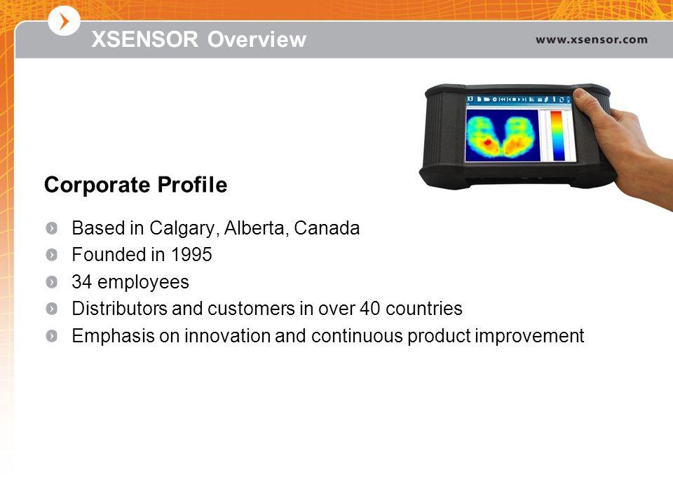 XSENSOR Overview Corporate Profile Based in Calgary, Alberta, Canada