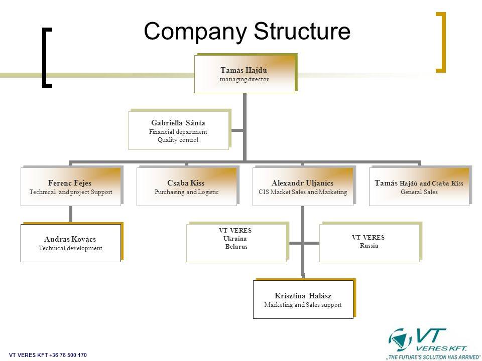 Company Structure VT VERES KFT +36 76 500 170