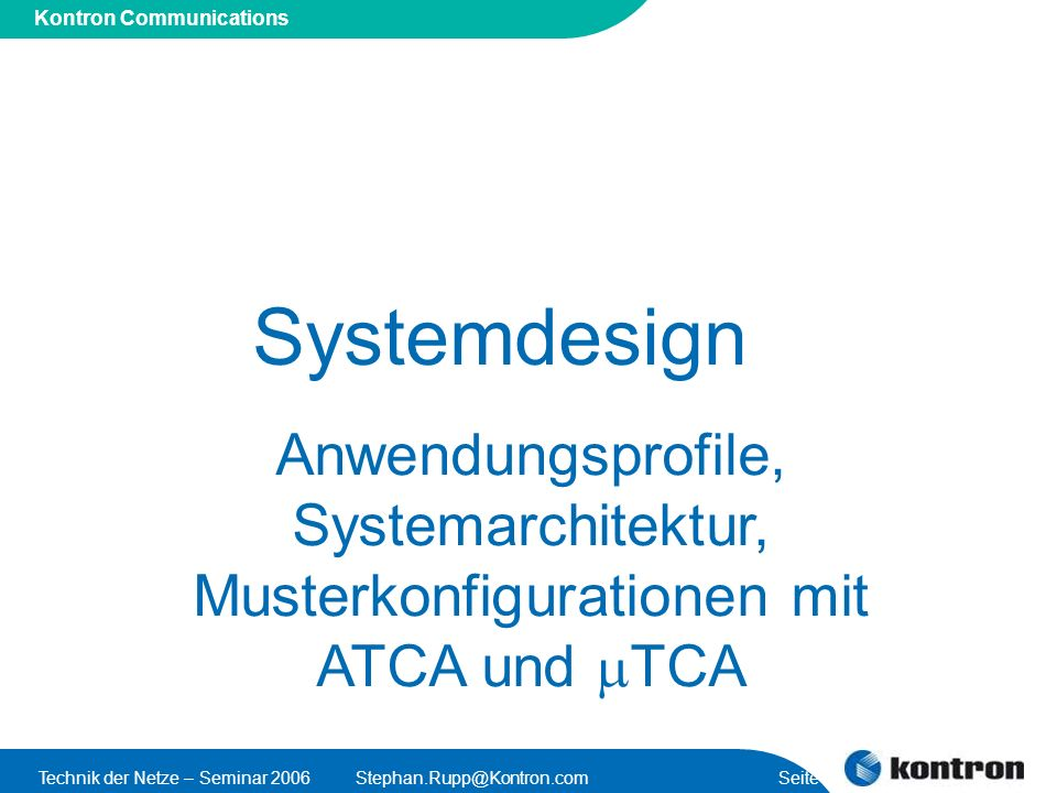Musterkonfigurationen mit ATCA und mTCA