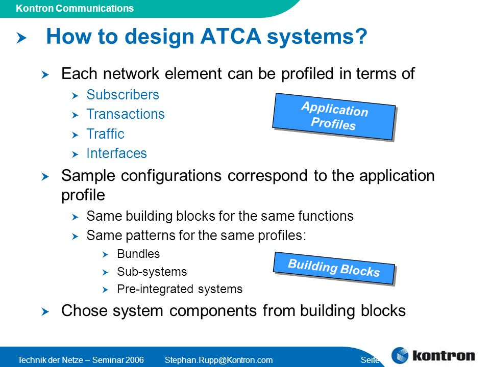 How to design ATCA systems