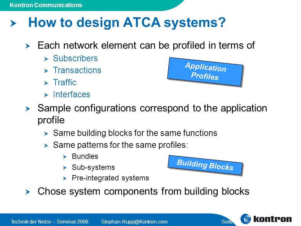 How to design ATCA systems