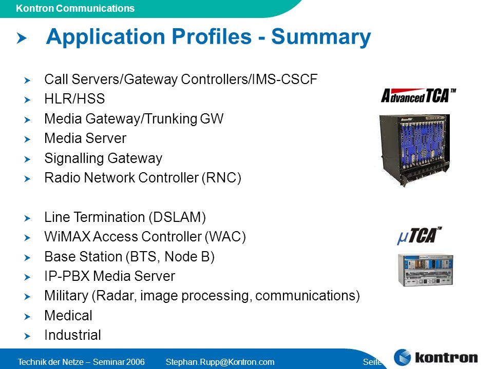 Application Profiles - Summary