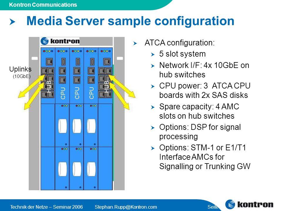Media Server sample configuration