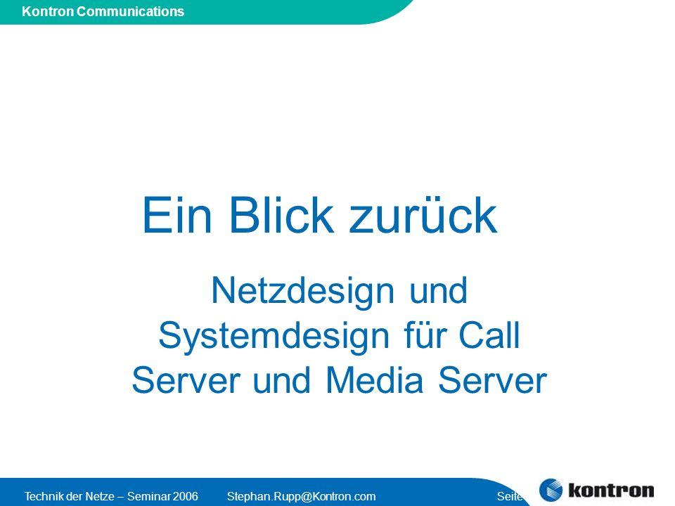 Netzdesign und Systemdesign für Call Server und Media Server
