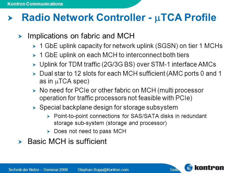 Radio Network Controller - mTCA Profile