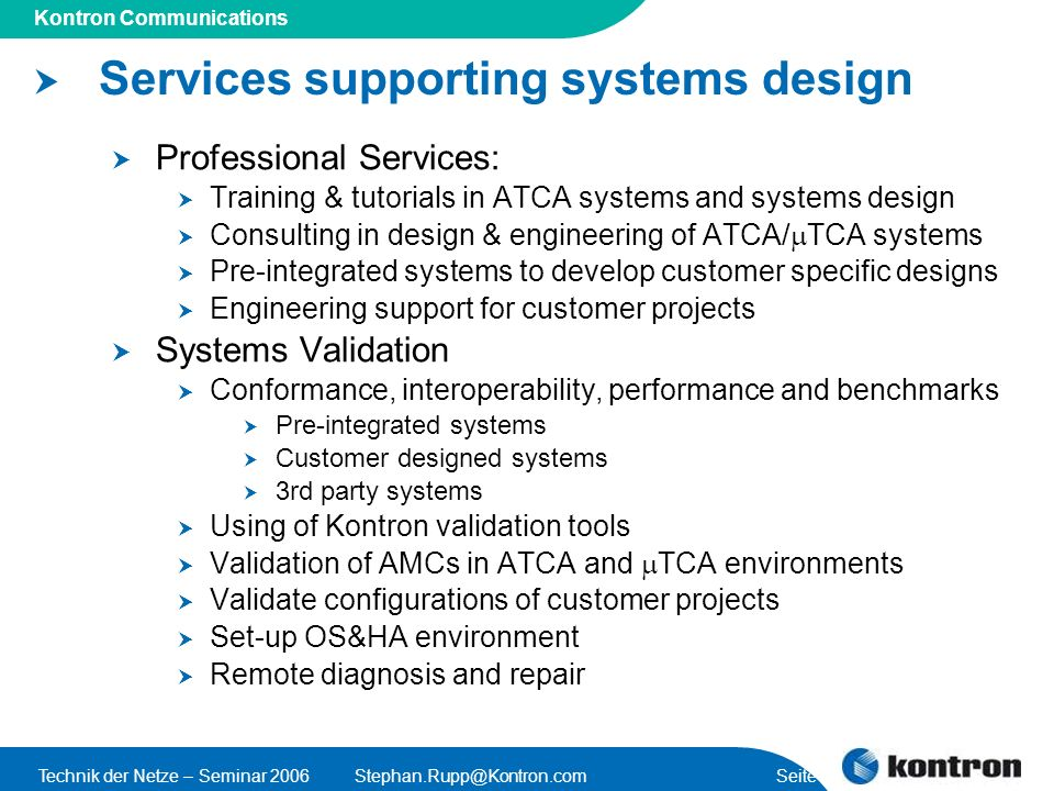 Services supporting systems design