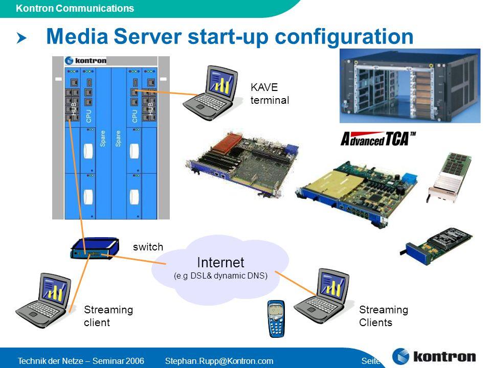 Media Server start-up configuration
