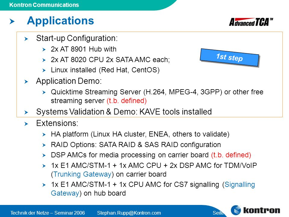 Applications Start-up Configuration: Application Demo: