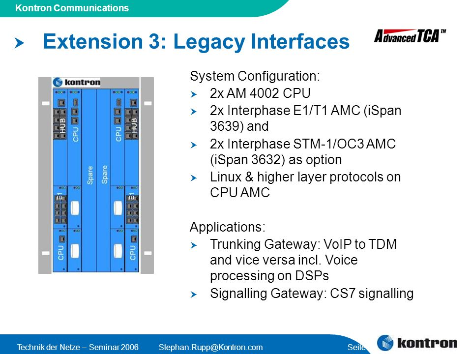 Extension 3: Legacy Interfaces