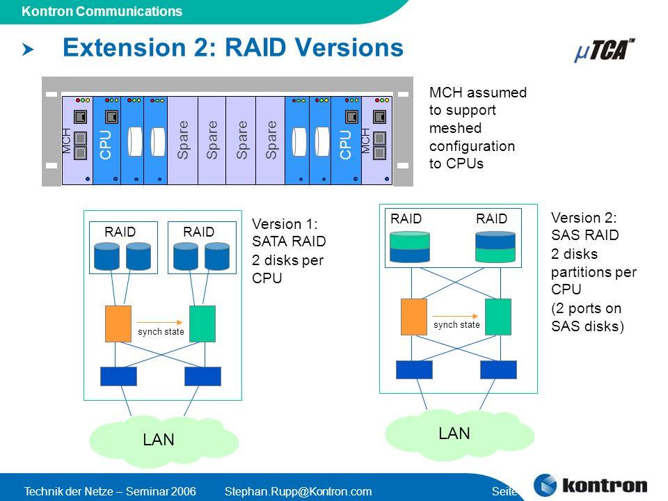 Extension 2: RAID Versions