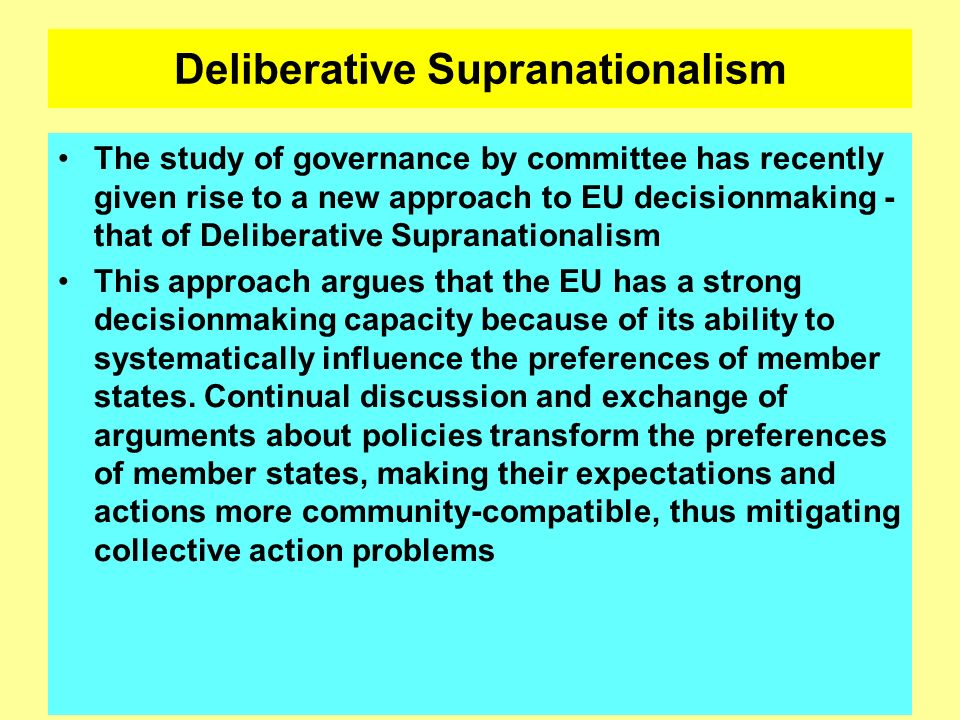Deliberative Supranationalism