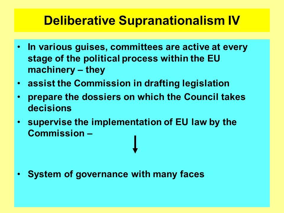 Deliberative Supranationalism IV