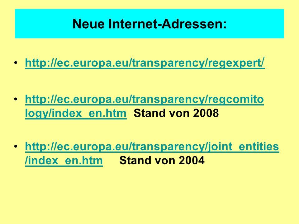 Neue Internet-Adressen: