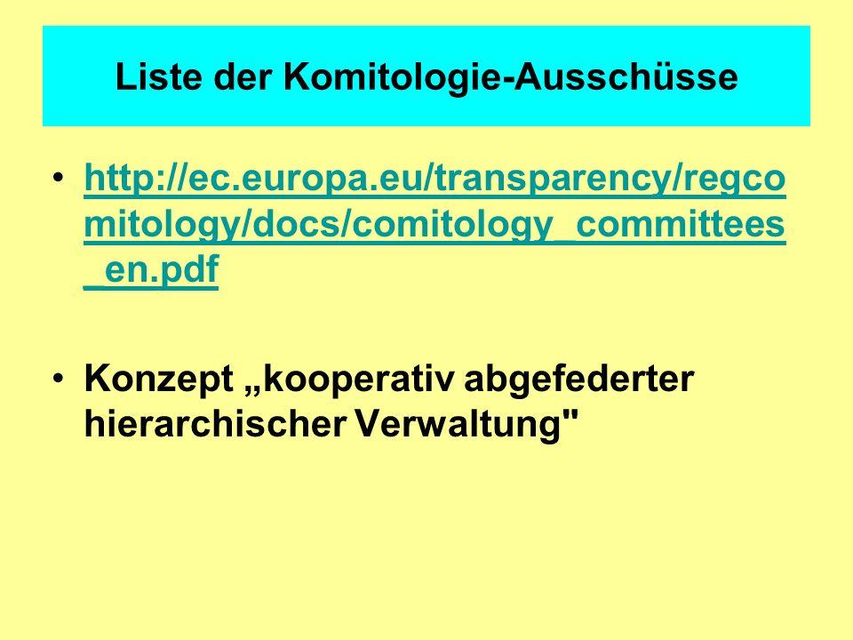 Liste der Komitologie-Ausschüsse