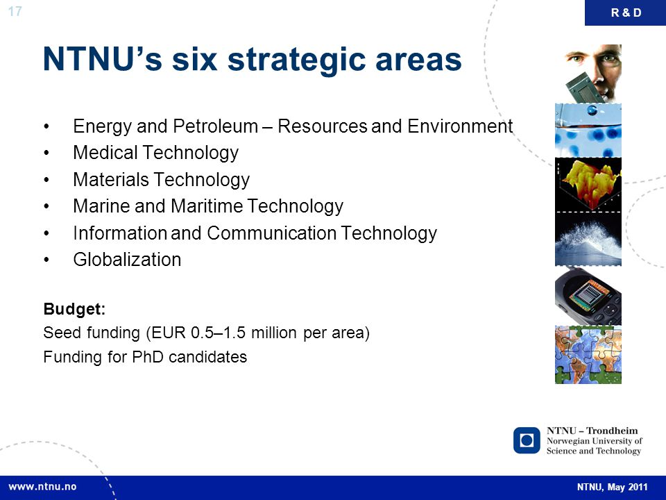 NTNU's six strategic areas