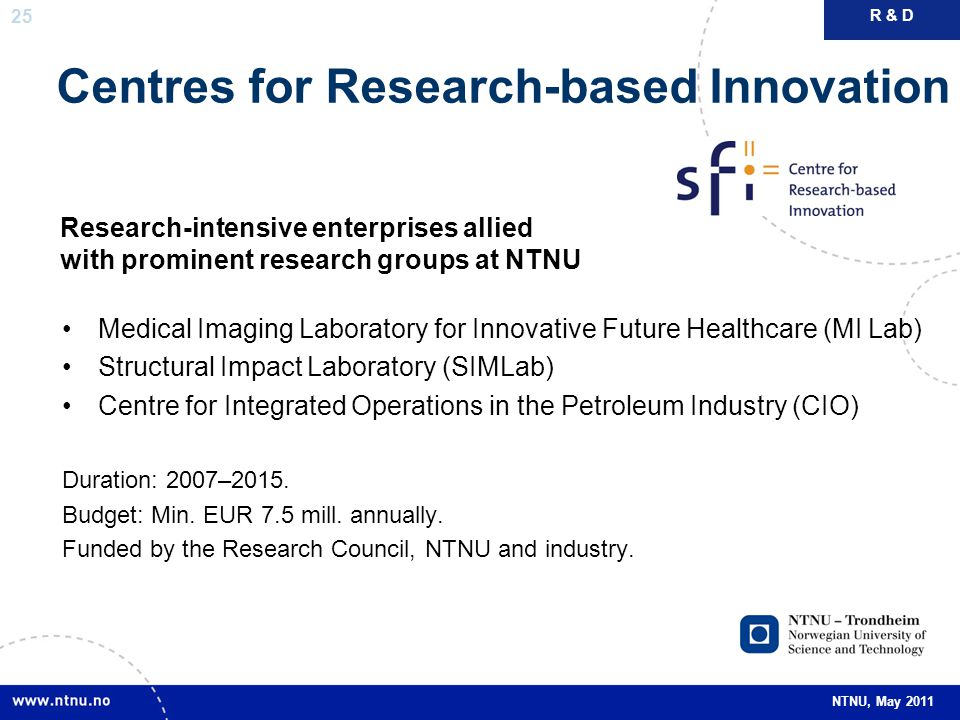 Centres for Research-based Innovation