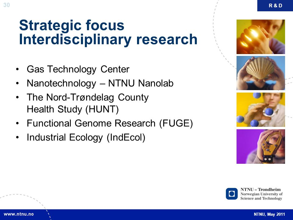 Strategic focus Interdisciplinary research