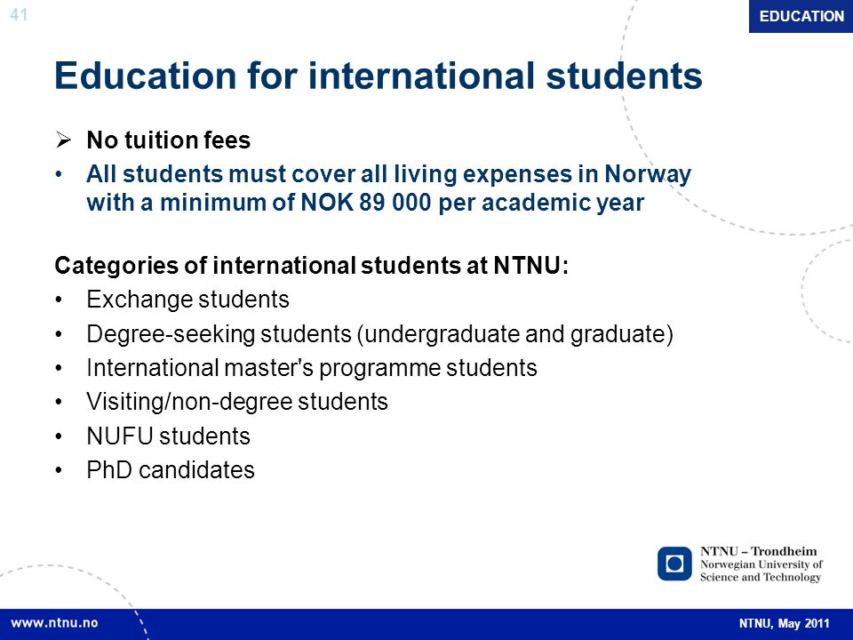 Education for international students