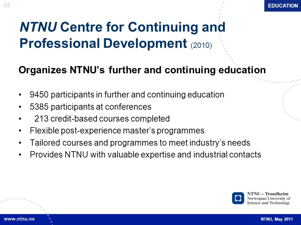 NTNU Centre for Continuing and Professional Development (2010)