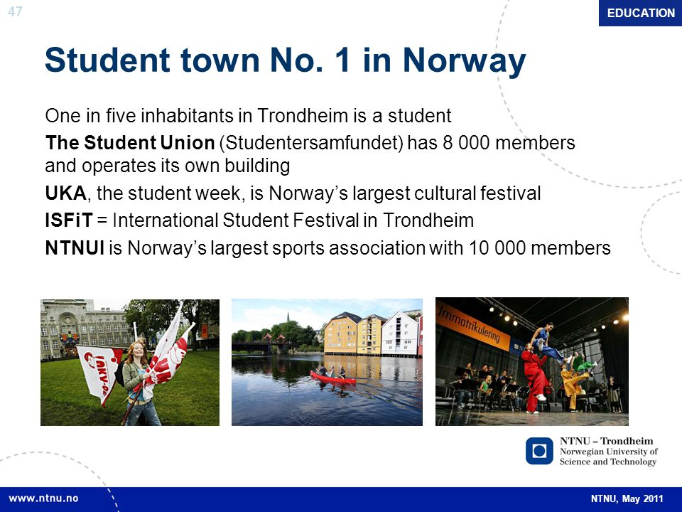 Student town No. 1 in Norway