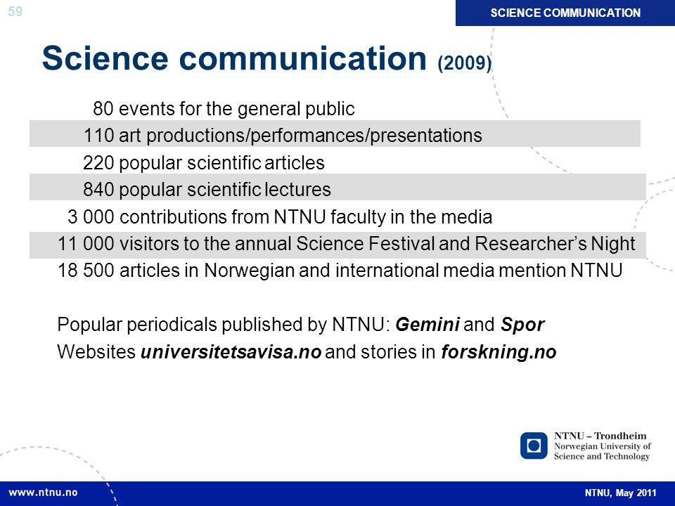 Science communication (2009)