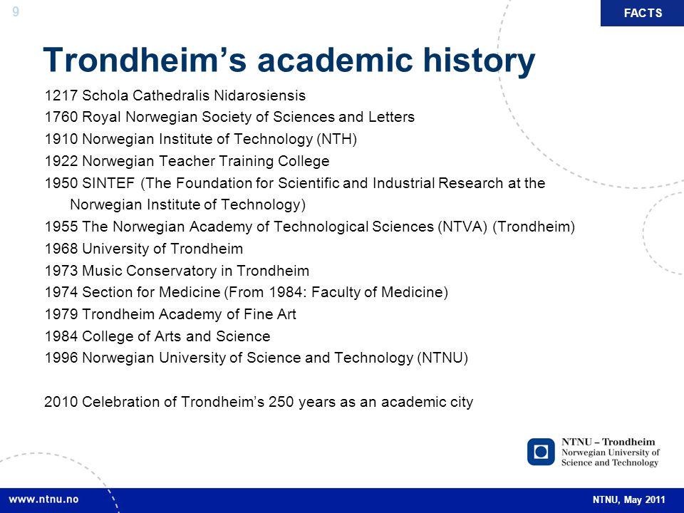 Trondheim's academic history