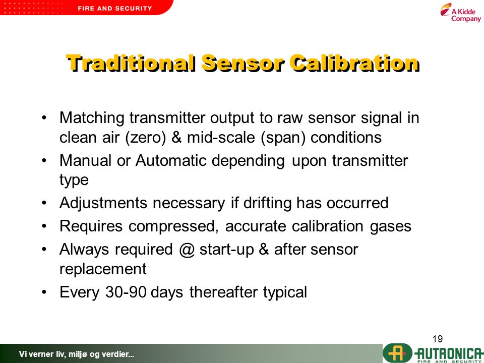 Traditional Sensor Calibration