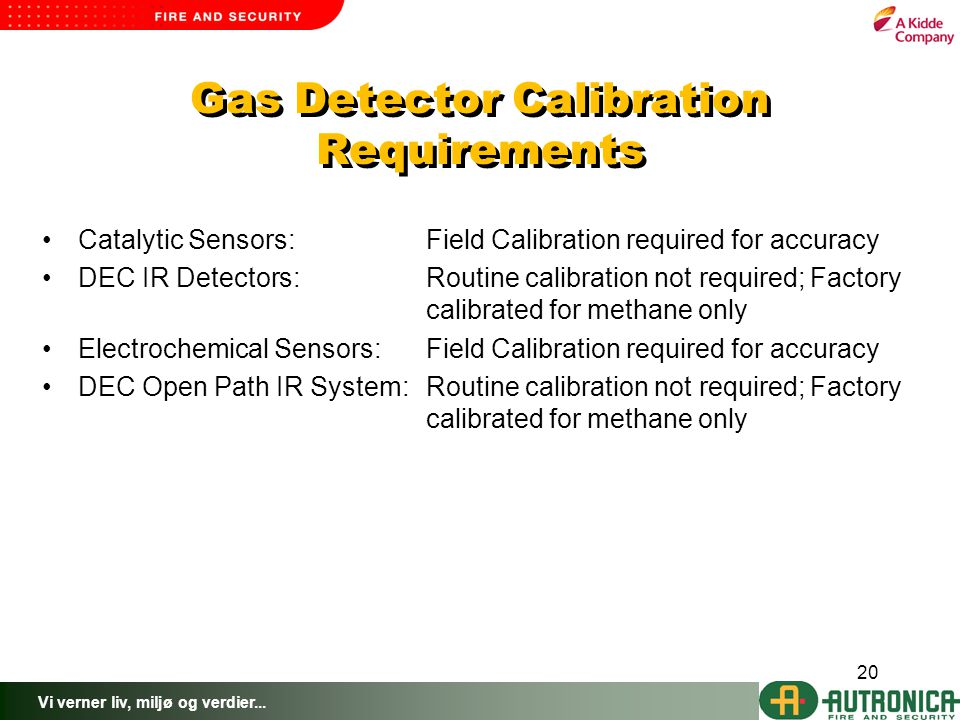 Gas Detector Calibration Requirements