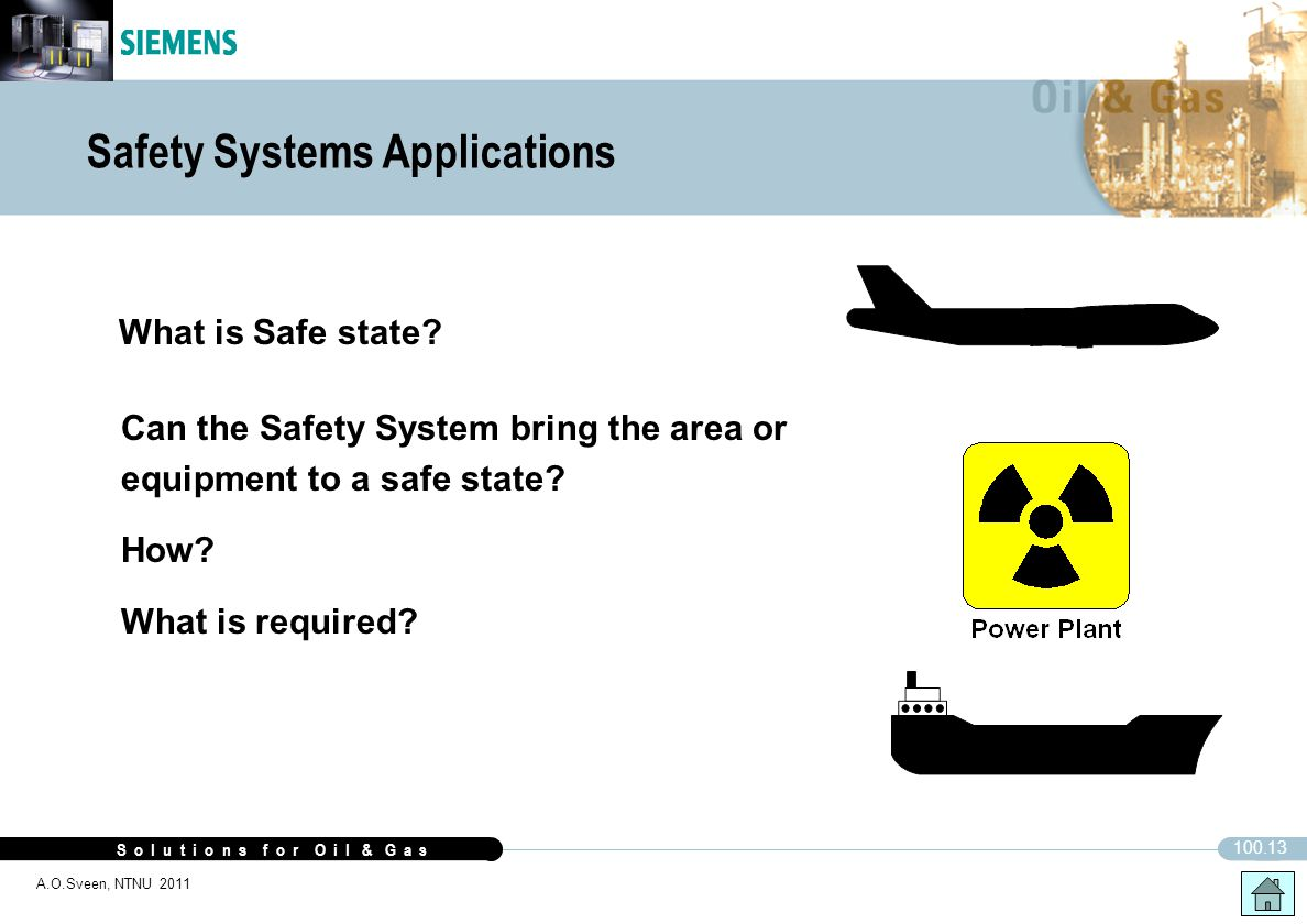 Safety Systems Applications