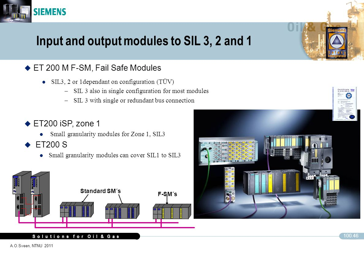 Input and output modules to SIL 3, 2 and 1