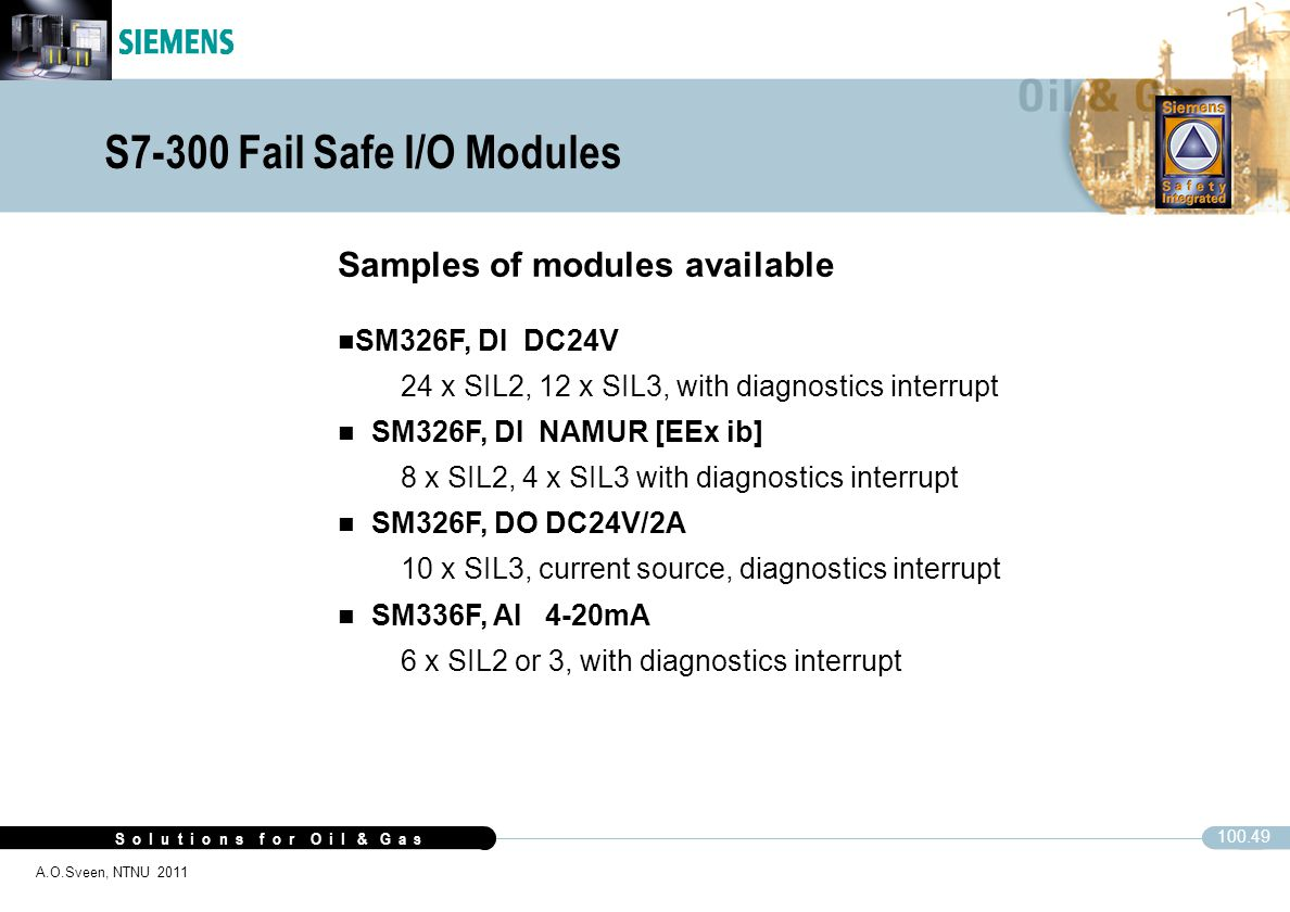 S7-300 Fail Safe I/O Modules