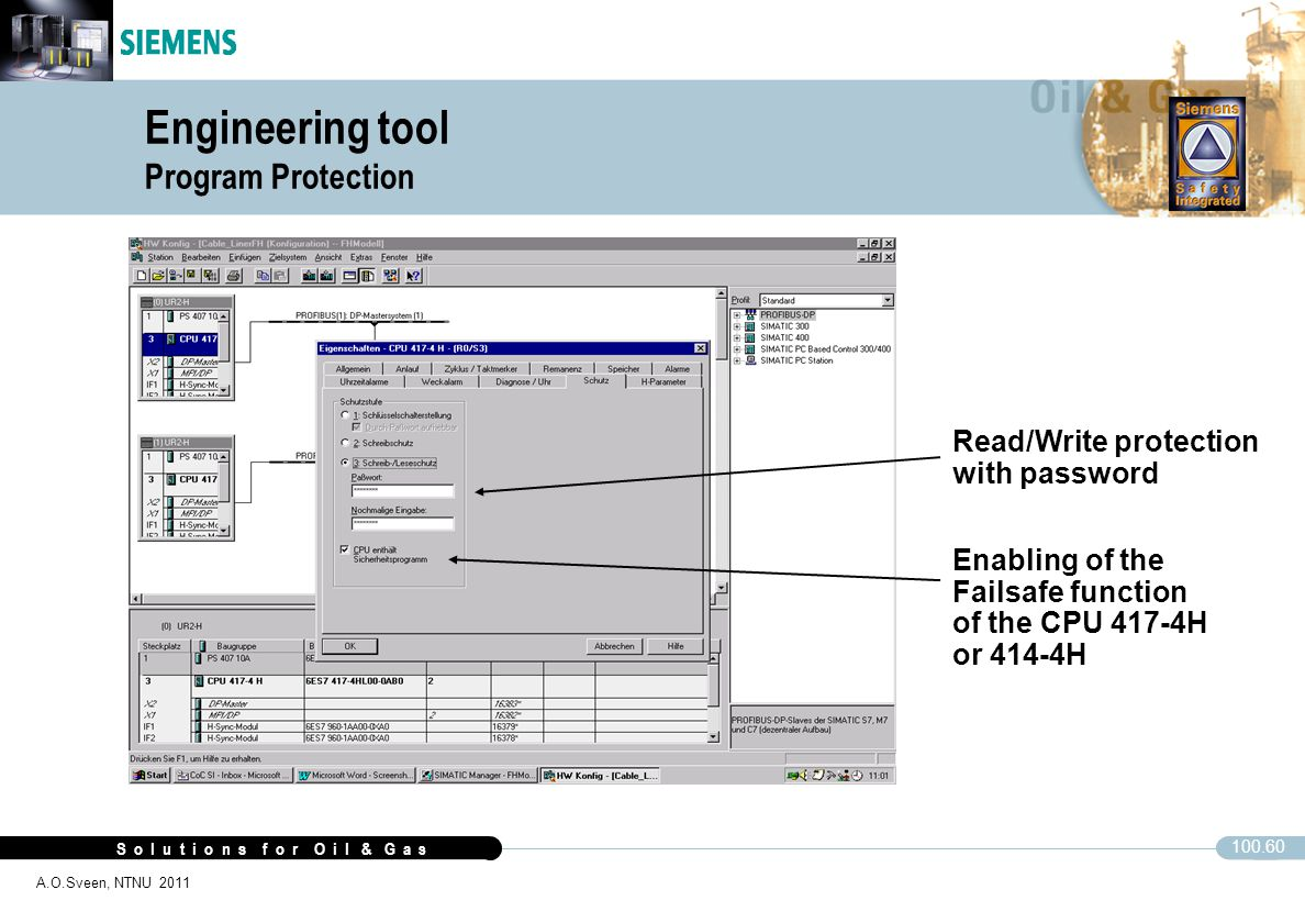 Engineering tool Program Protection