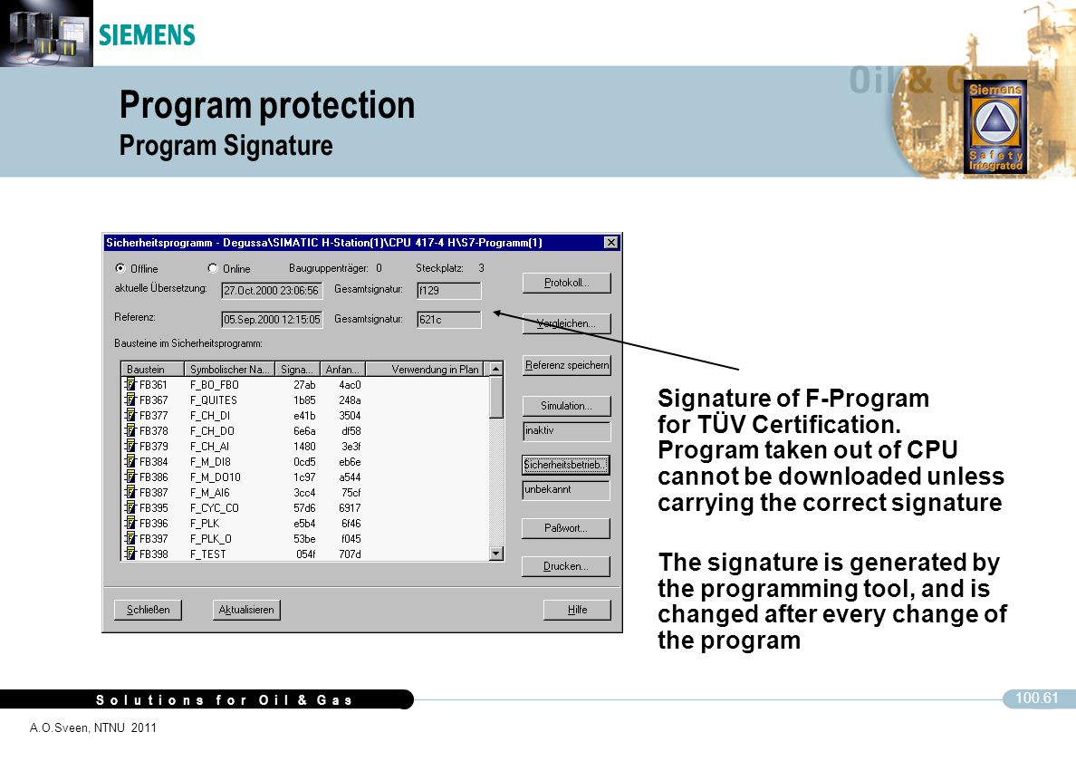 Program protection Program Signature