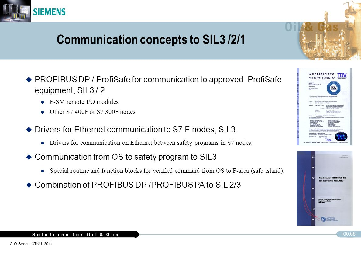 Communication concepts to SIL3 /2/1