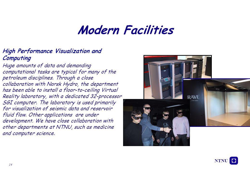 Modern Facilities High Performance Visualization and Computing