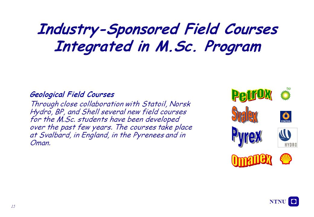 Industry-Sponsored Field Courses Integrated in M.Sc. Program