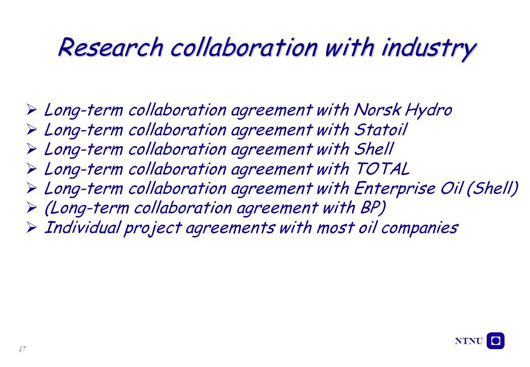 Research collaboration with industry