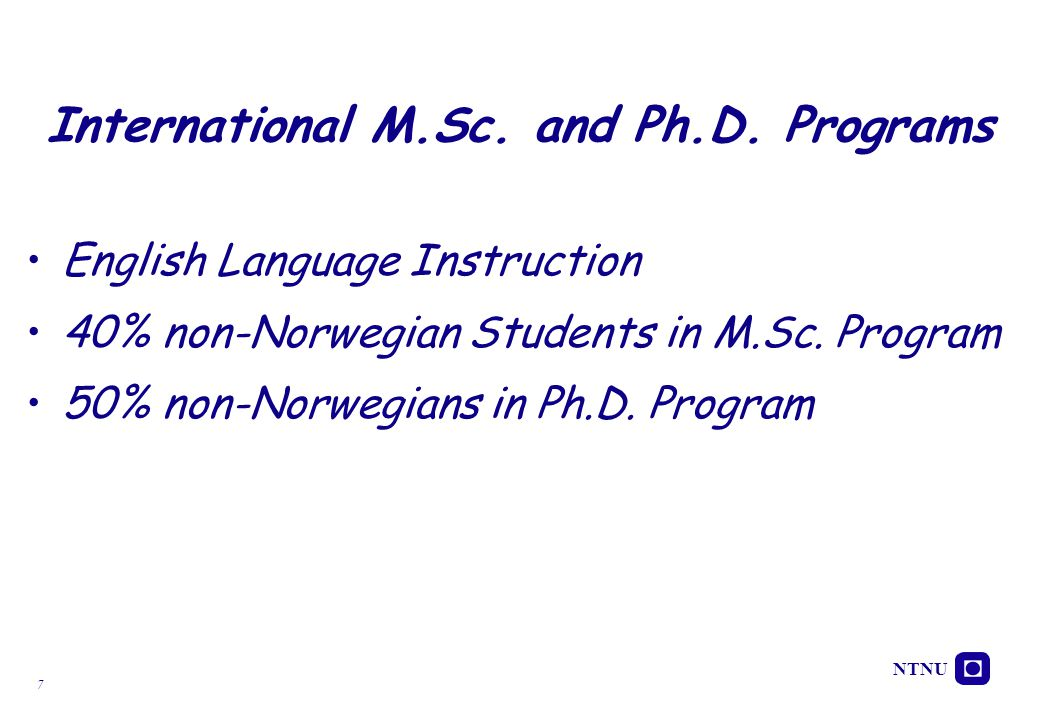 International M.Sc. and Ph.D. Programs
