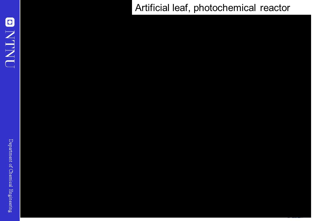 Artificial leaf, photochemical reactor