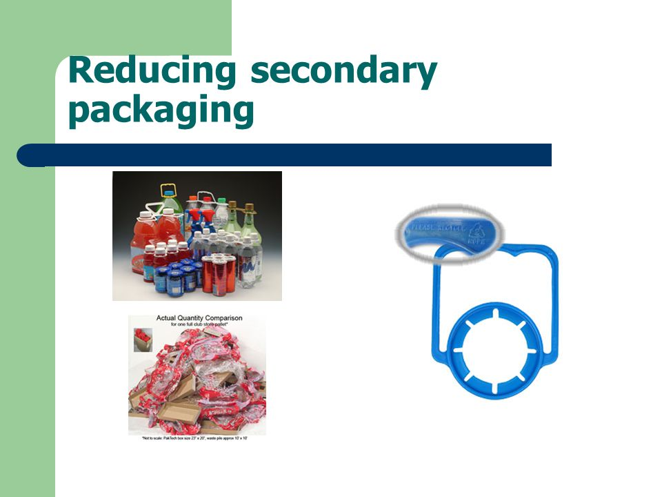 Reducing secondary packaging