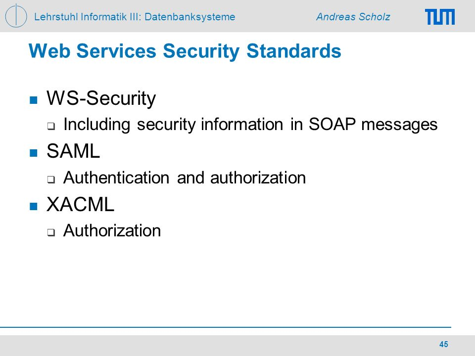 Web Services Security Standards
