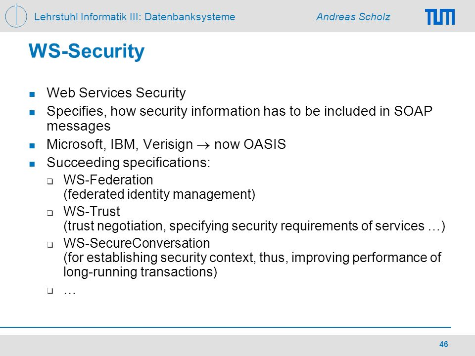 WS-Security Web Services Security