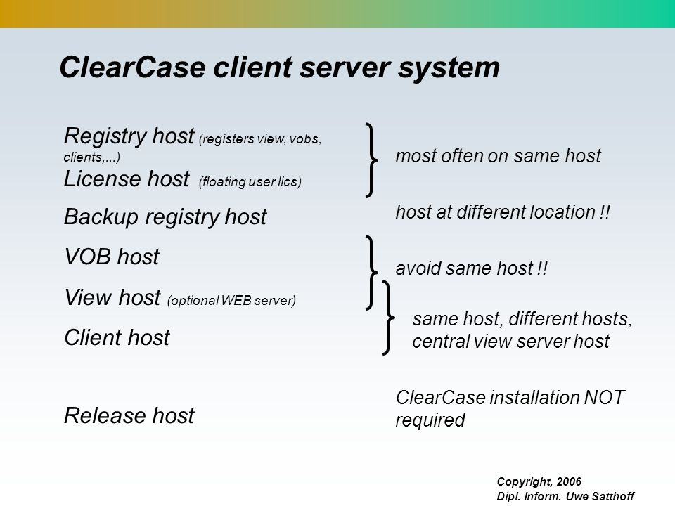 ClearCase client server system