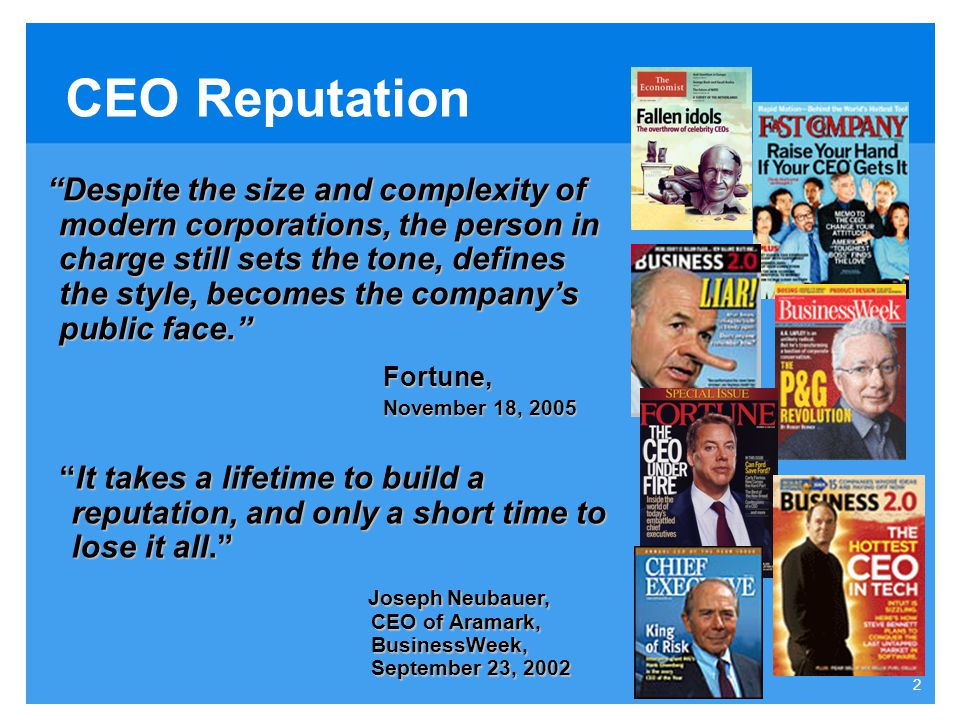 CEO Reputation