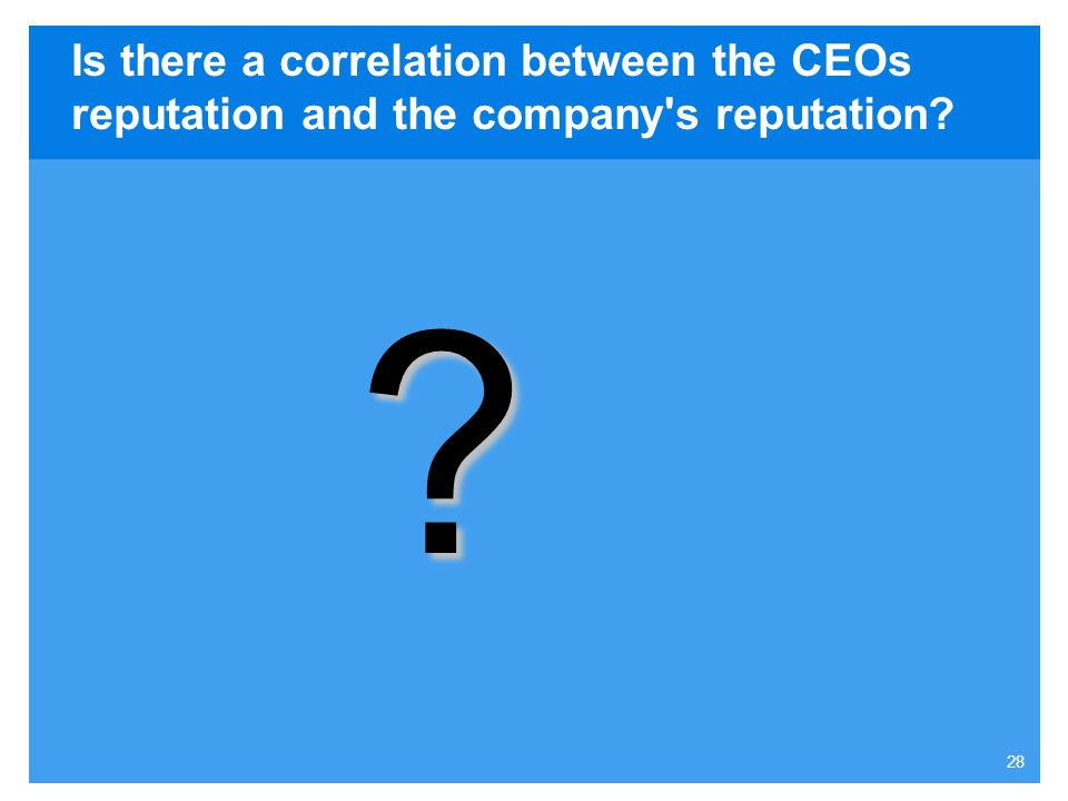 Is there a correlation between the CEOs reputation and the company s reputation